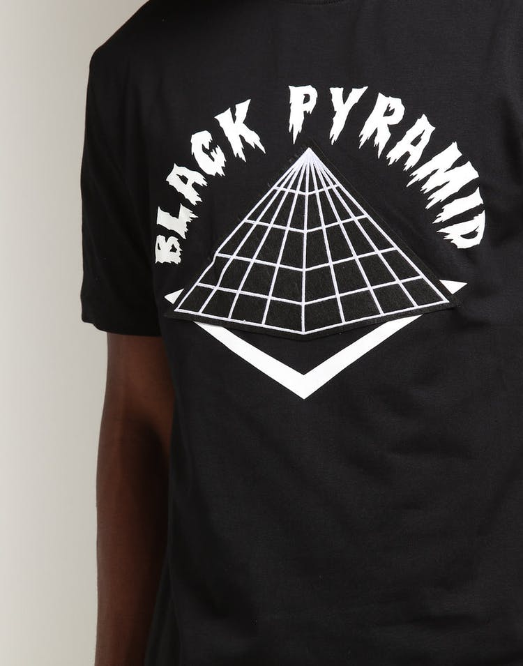 Black Pyramid Drip Logo Tee Black