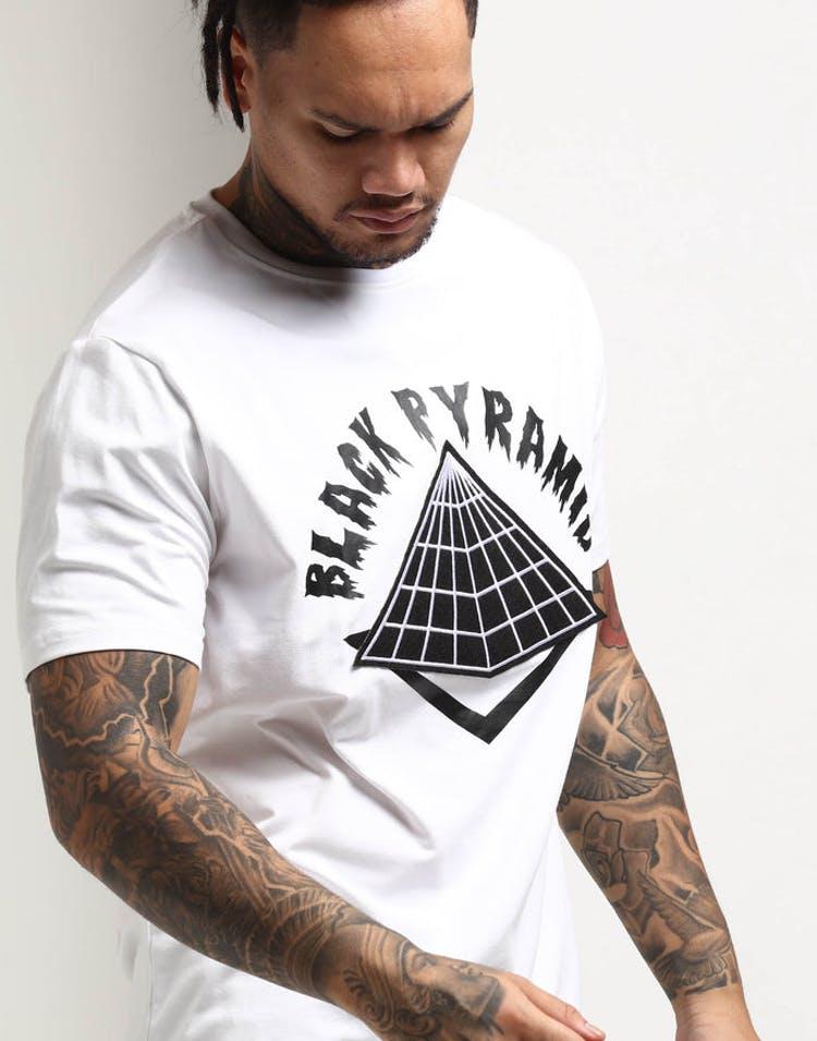 e23cf9f8 Black Pyramid Drip Logo Tee White – Culture Kings US
