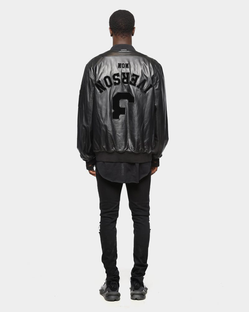 The Anti-Order Comme Des Anti Leather Bomber Black