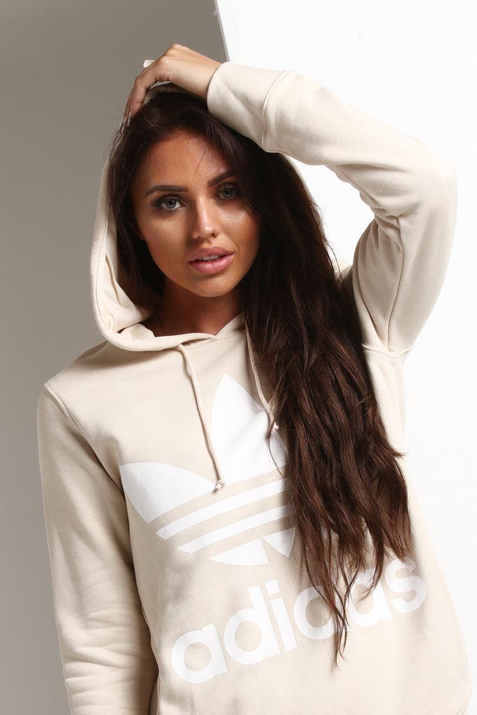 Adidas Originals Women's Trefoil Hoodie Linen