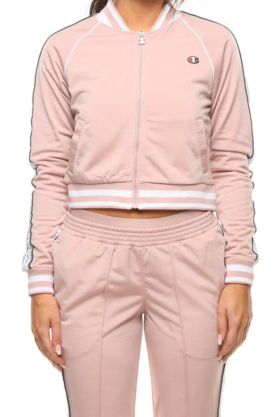 Champion Women's Track Jacket Pink