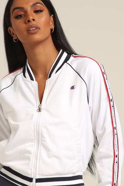 Champion Women's Track Jacket White