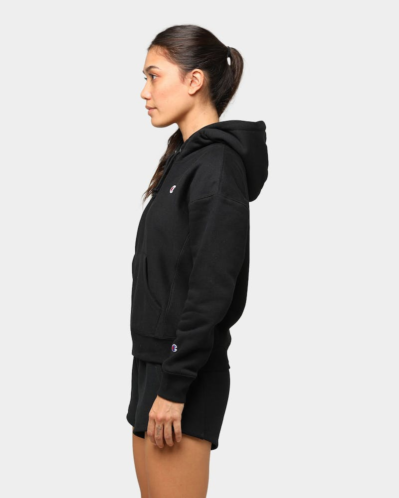 Champion Women's Reverse Weave Hoodie Black