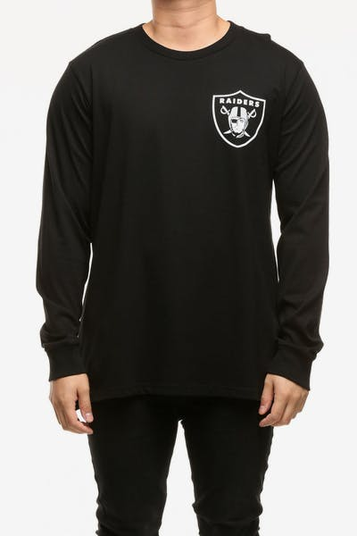 Majestic Athletic Oakland Raiders Vigar LS Tee Black White e7628717a
