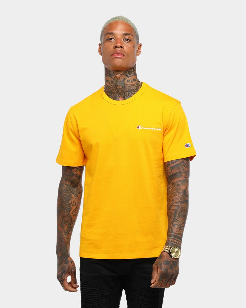 Champion Heritage Tee Emb Script Gold