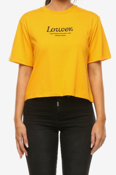 Lower Women's Crop Tee Jac Gold
