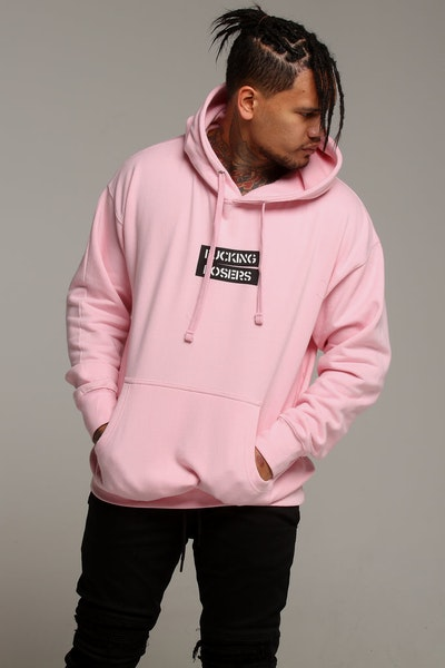 Los Angeles RadYo! Fxcking Posers Hoodie Pink