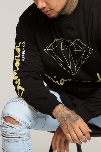 Diamond Supply OG Sign L/S Tee Black