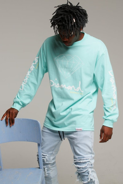 Diamond Supply OG Sign L/S Tee Diamond Blue