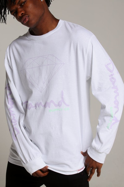 Diamond Supply OG Sign L/S Tee White