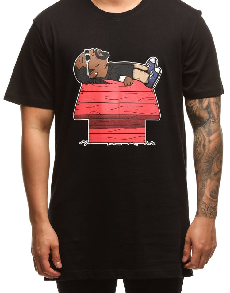 Enjoyable Goat Crew Snoopy Dogg Tee Black Caraccident5 Cool Chair Designs And Ideas Caraccident5Info