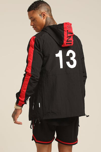 Saint Morta Transfer Windbreaker Black/Red