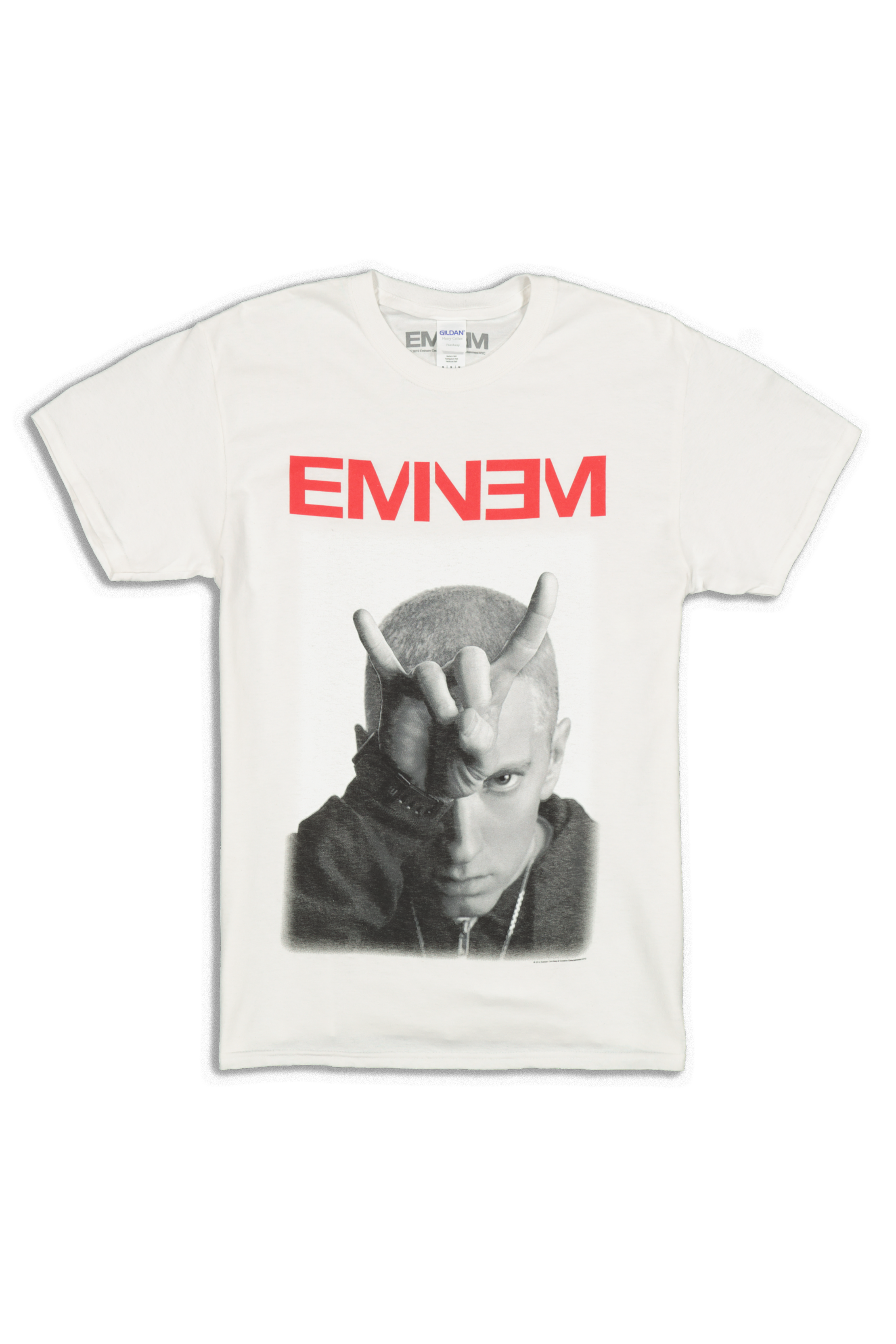 Eminem Shirt Devil Horn Slim Shady Hip Hop Black White T-Shirt S,M,L,XL,2XL