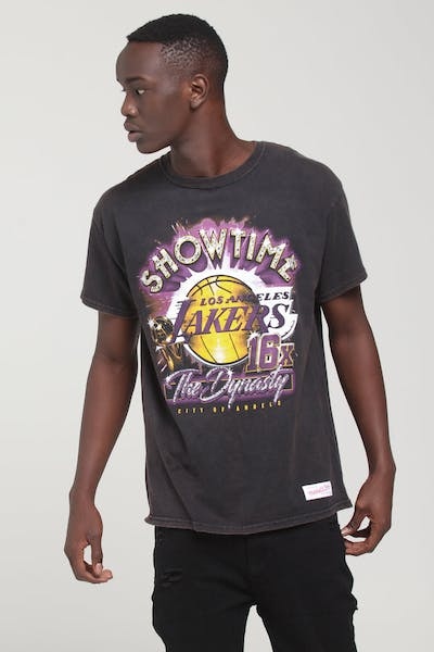 63643b2e Mitchell & Ness Los Angeles Lakers Vintage Champ Tee Black