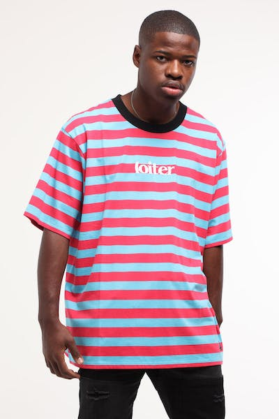 Loiter NYC Fruit Tingle Stripe Tee Blue/Red