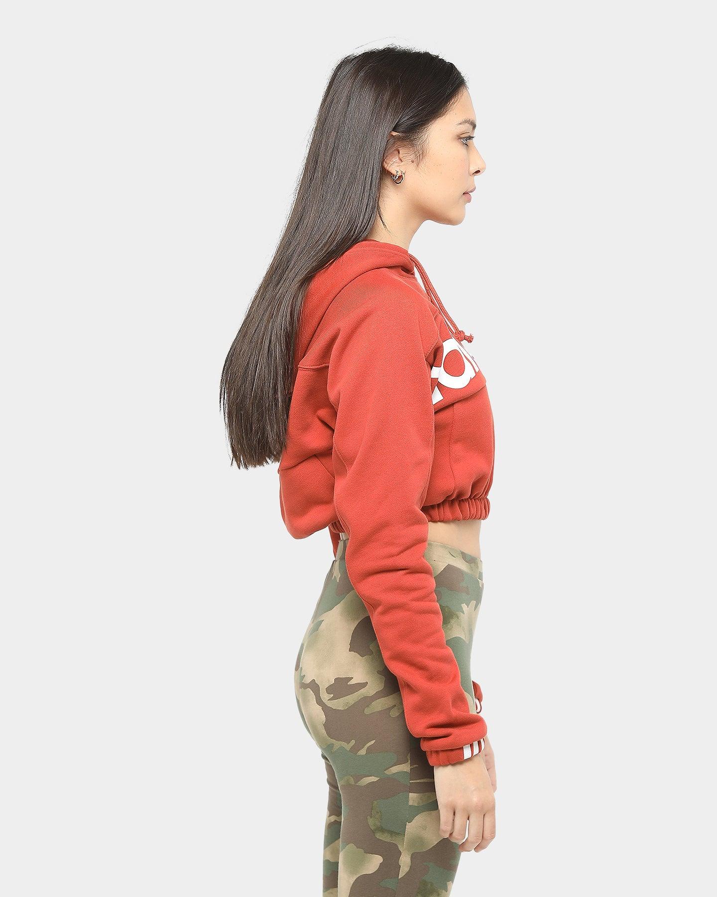 Adidas Women's Cropped Hoodie Shift Orange