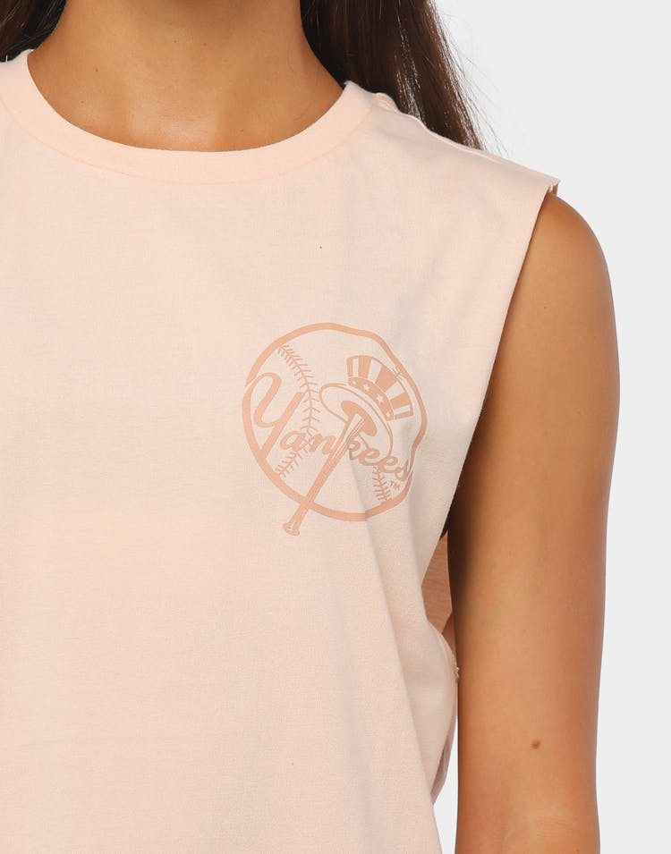 Majestic Athletic Women's New York Yankees Dizzia Muscle Tank Pale Pink