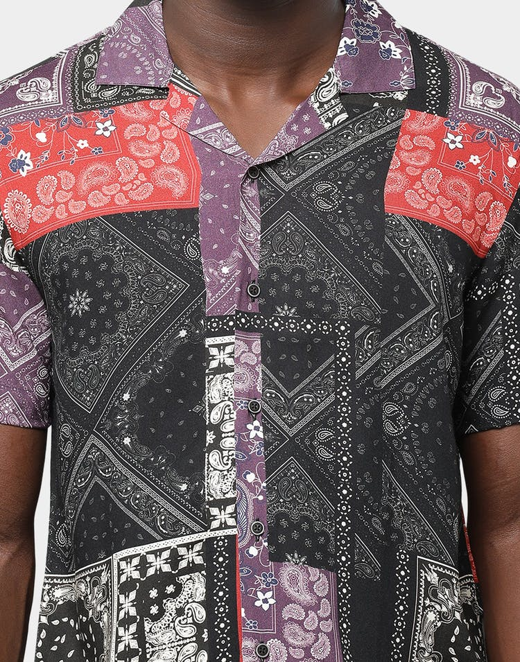 Criminal Damage Bandana Mashup Shirt Multi-Coloured