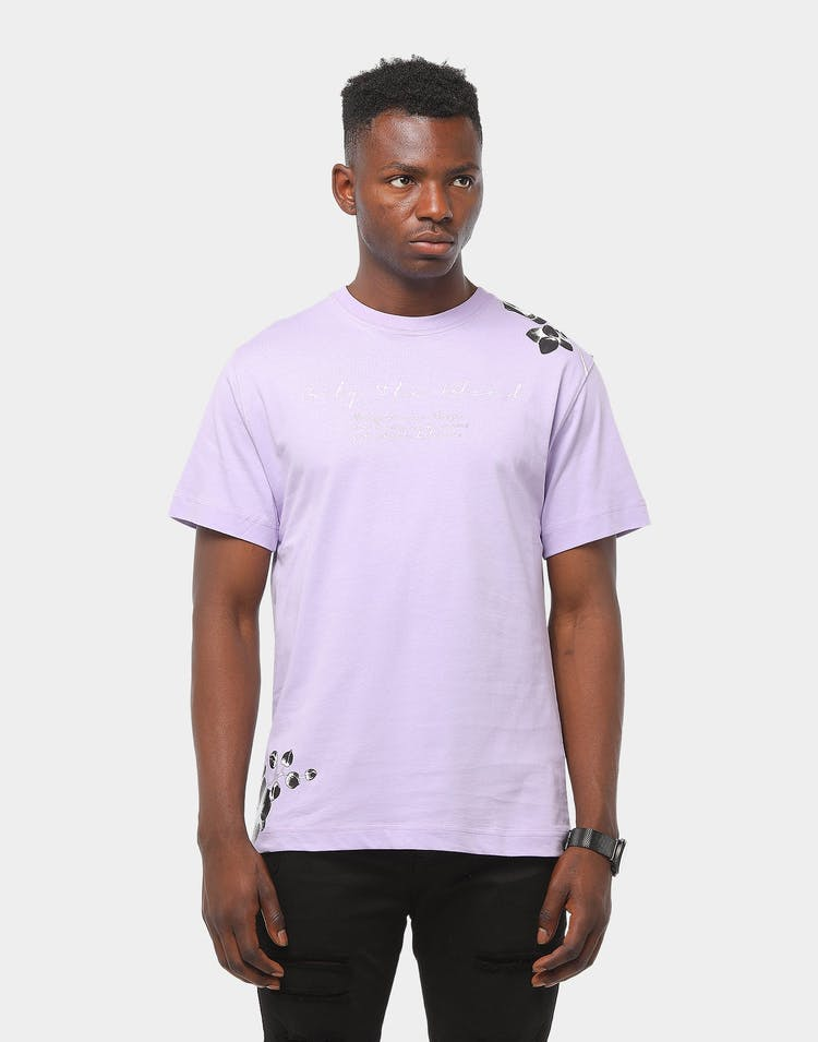Only The Blind Lavender Floral Tee Lilac