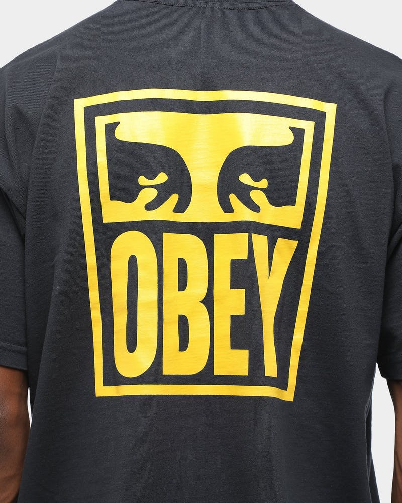 Obey Men's Obey Eyes Icon T-Shirt Off Black