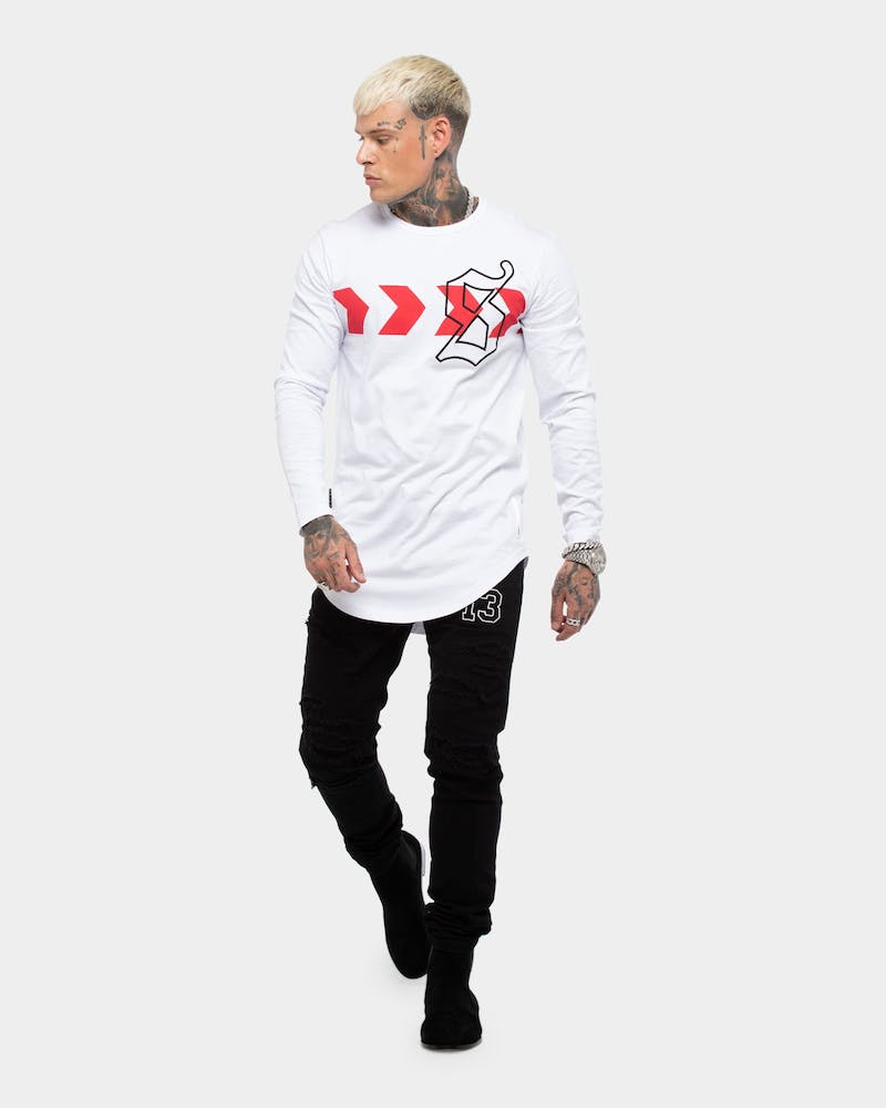 Saint Morta Men's Icon X El Duplo LS Tee White/Red