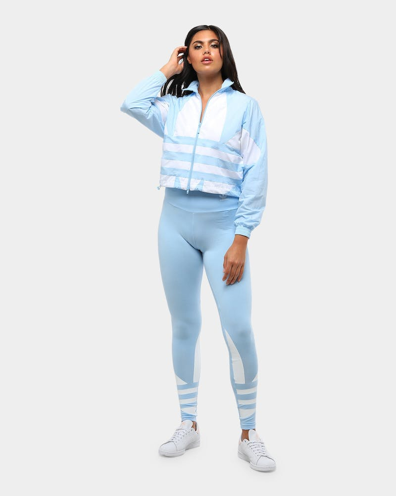 Adidas Women's Large Logo Track Top Clear Sky/White