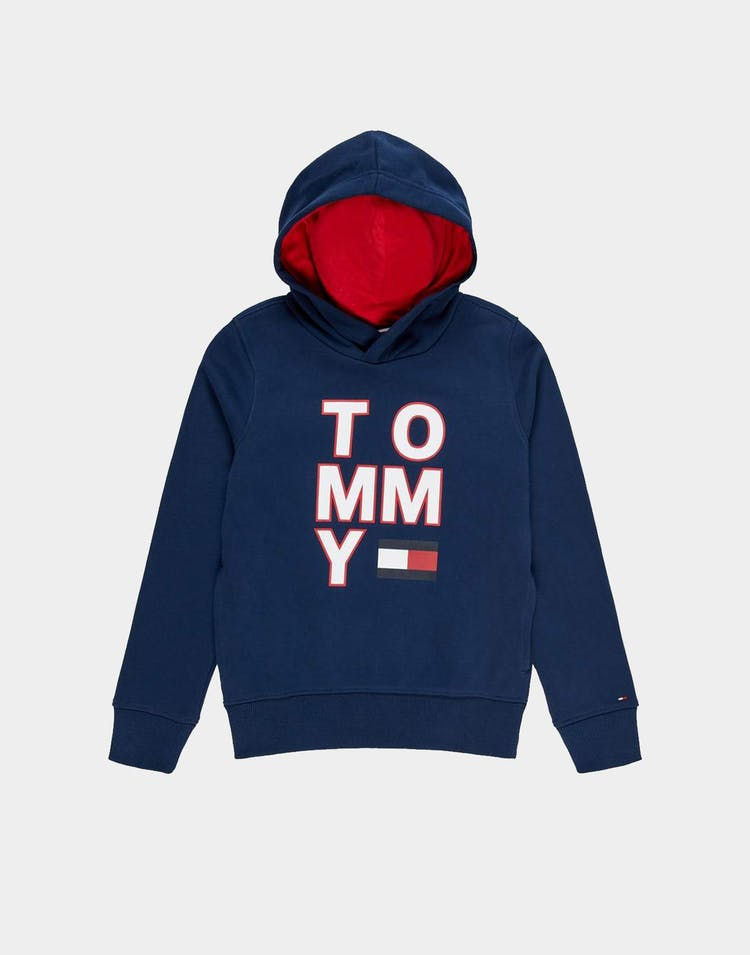 Tommy Jeans Kids Multi AW Graphic Hoodie Black Iris