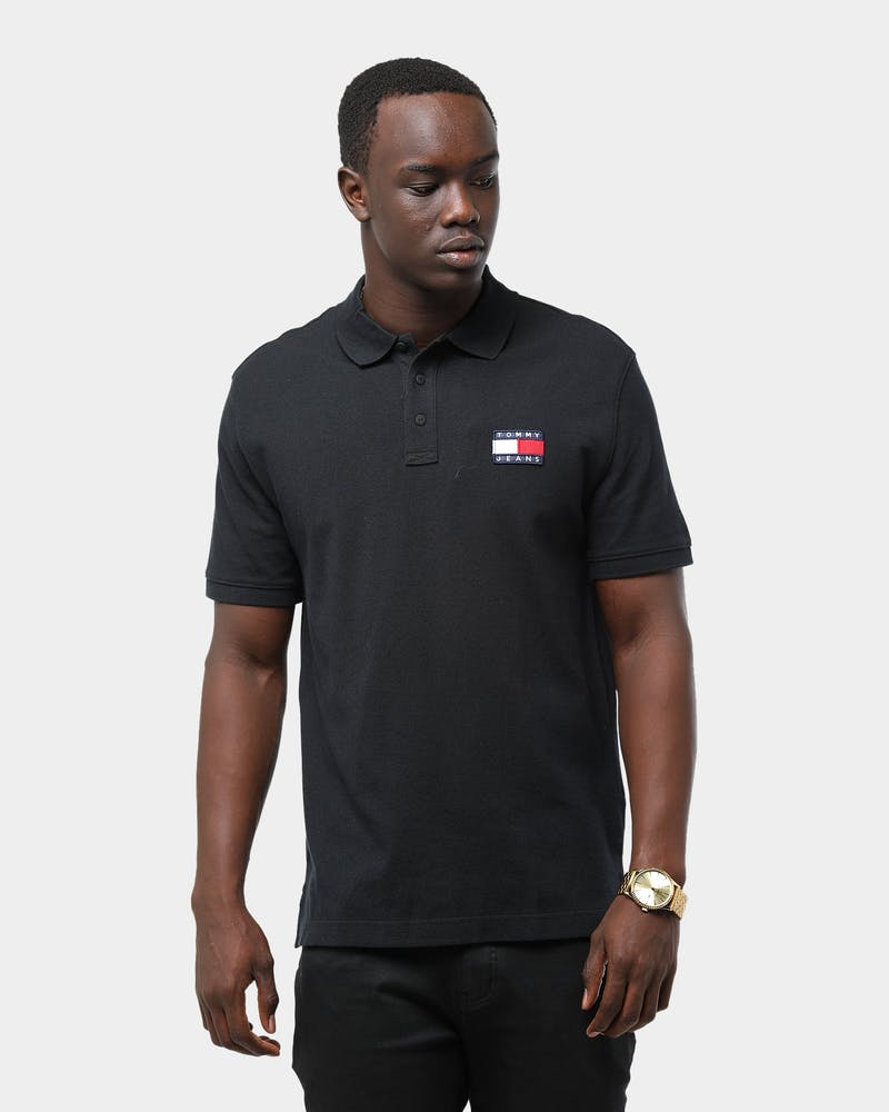 Tommy Jeans Men's TJM Tommy Badge Polo Tommy Black