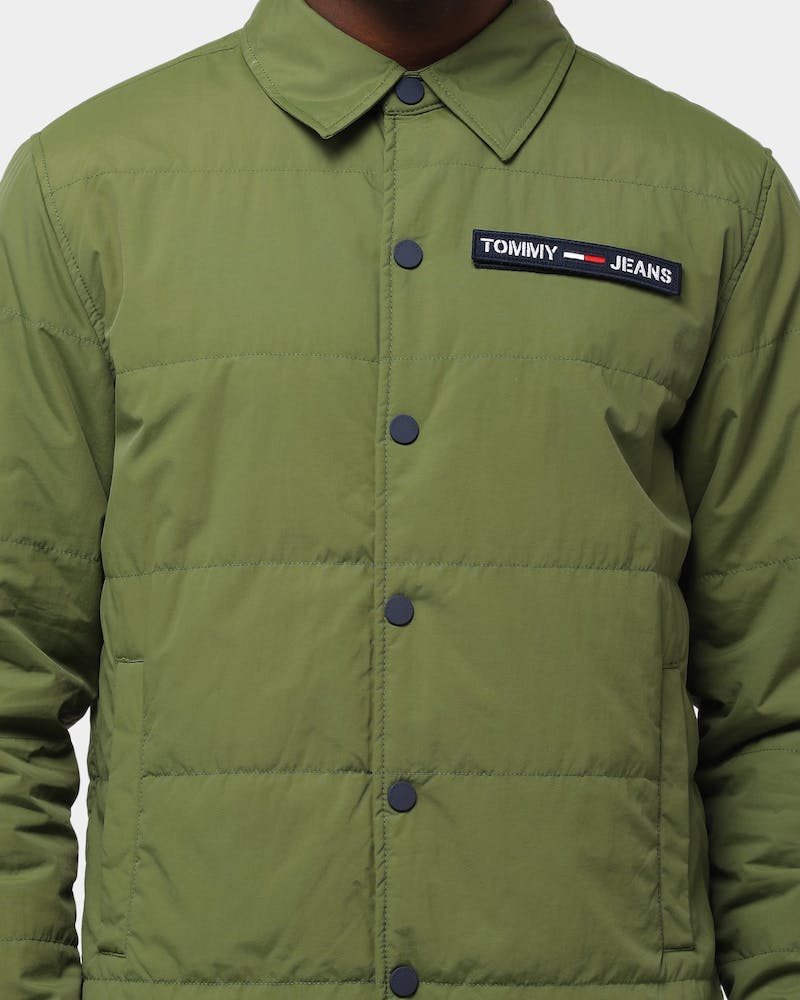 Tommy Jeans Men's TJM Padded Collar Velcro Jacket Cypress