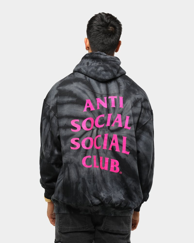 Men's Anti Social Social Club Laguna Tie Dye Hoodie Black