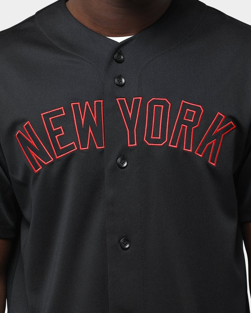 Majestic Athletic New York Yankees B&R Wordmark Replica Jersey Black