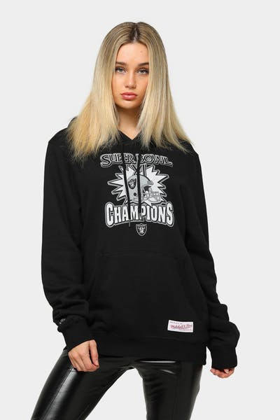 Mitchell & Ness Raiders Super Bowl Champs Vintage Hoodie Black