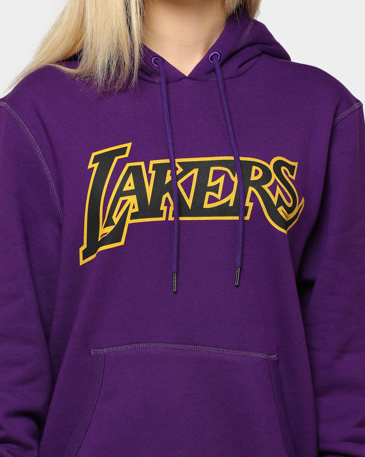 Mitchell /& Ness Worn Logo//Wordmark LA Lakers Sweat /à Capuche