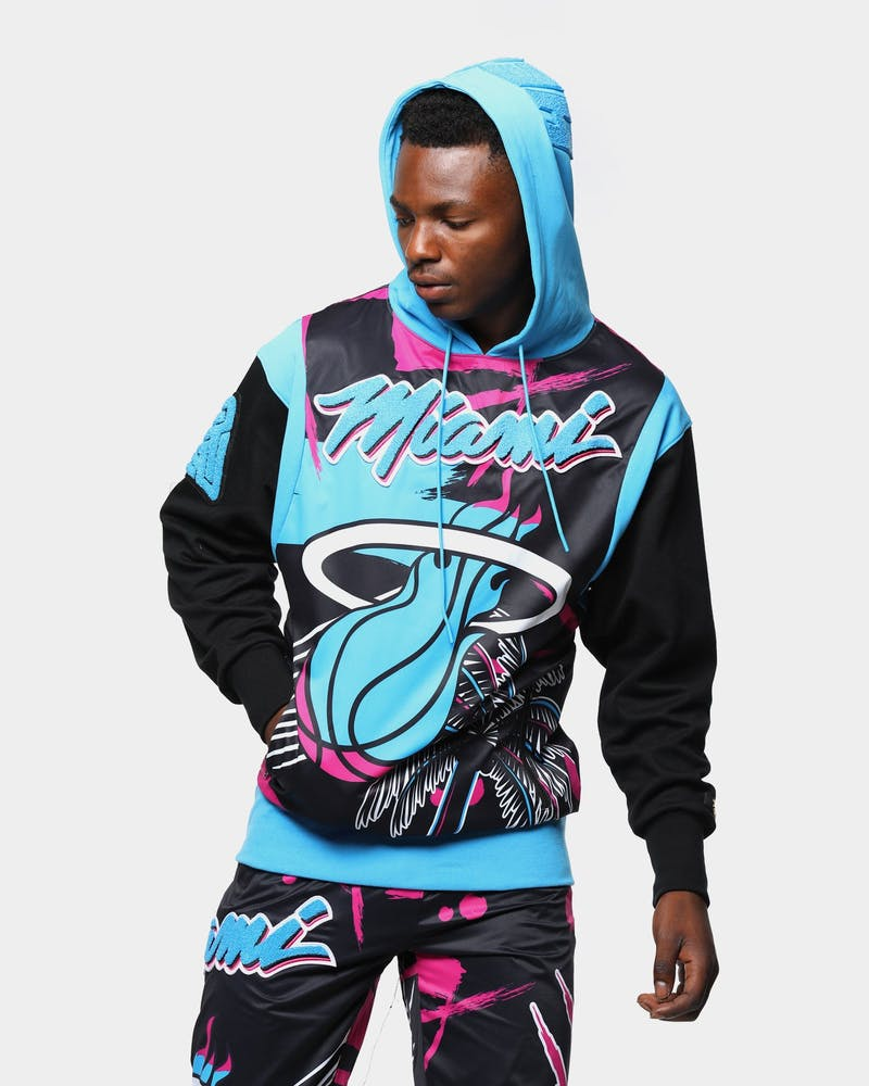 Black Pyramid Men's Miami Heat Vice Logo Hoodie Black