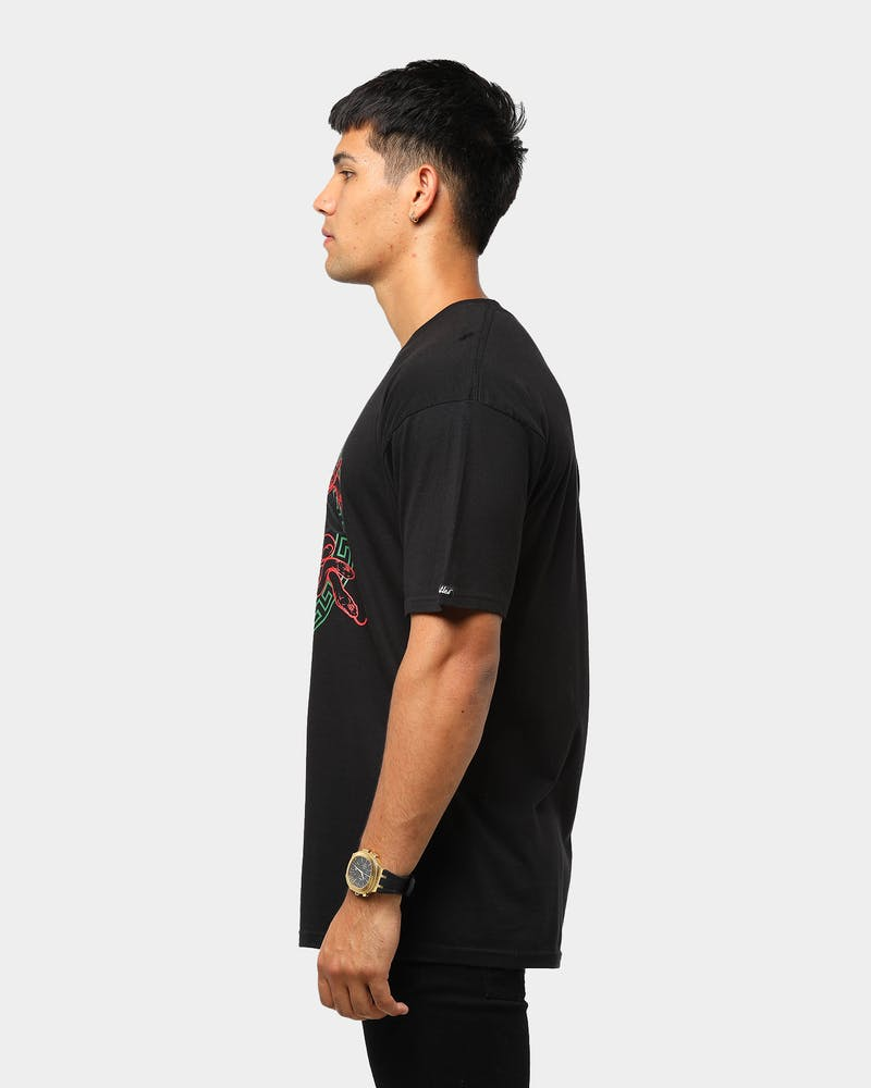 Crooks & Castles Men's Medusa Head Short Sleeve T-Shirt Black