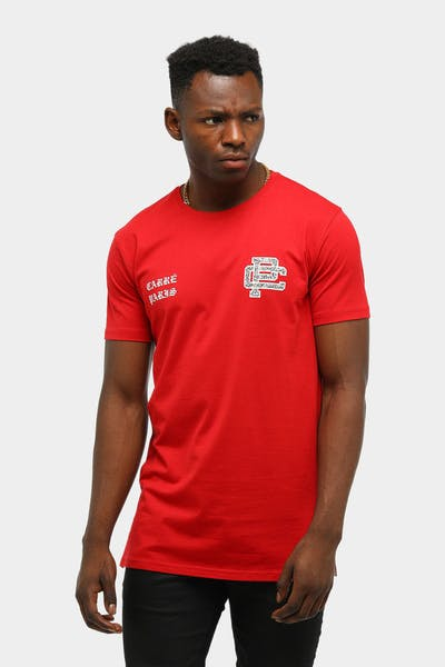 CARRÉ Men's STATEMENT DIVISE SS T-SHIRT RED