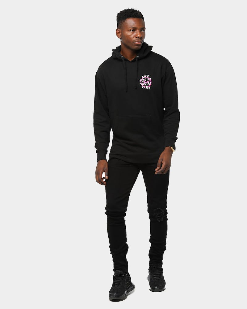 Anti Social Social x Fragment Club Men's Bolt Hoodie Pink