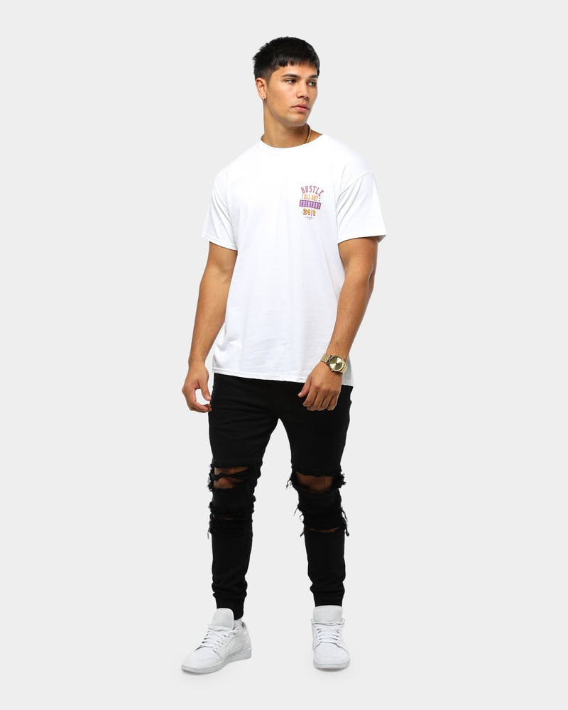 Retro Kings Hustle All Day Tee White