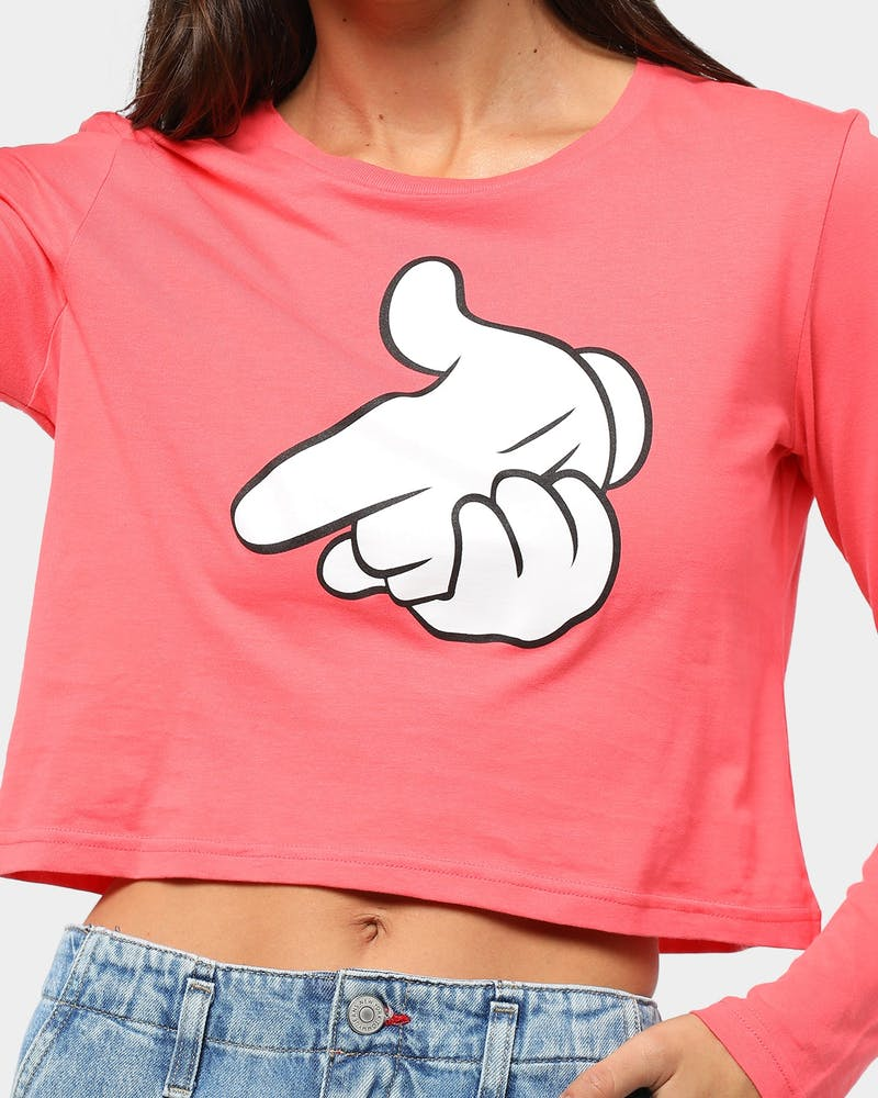 Crooks & Castles Women's Gun Fingers LS Tee Punch