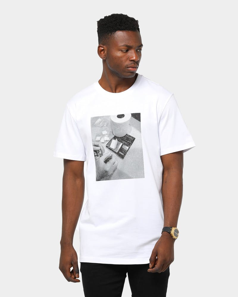 Goat Crew Men's Covid-Crack 2.0 Tee White