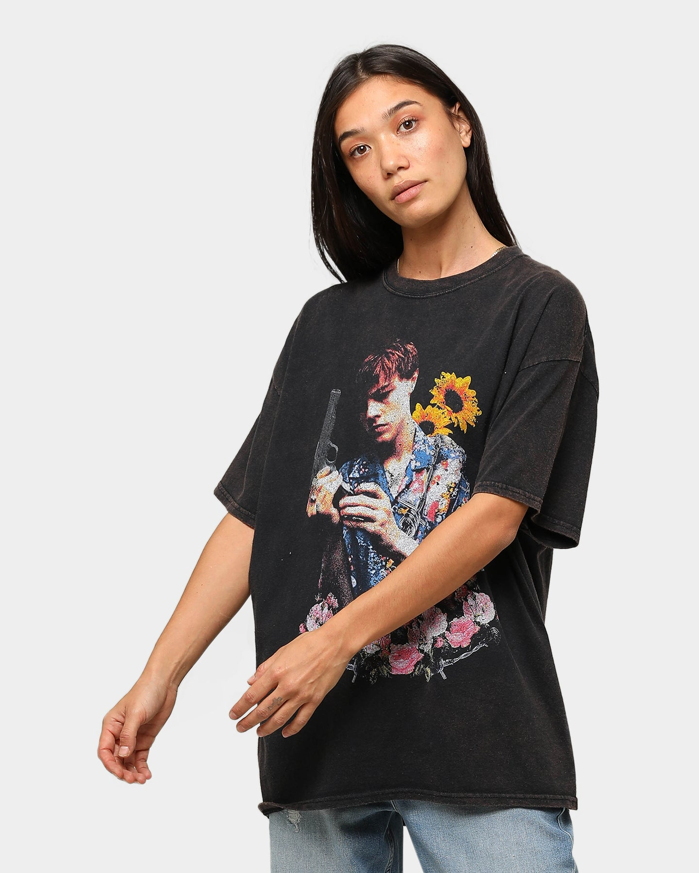 Acid Rap Youth Men Pop Short Sleeves T Shirt Tees Black Cotton