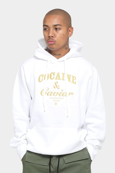 Crooks & Castles Cocaine & Caviar Hoodie White/Gold