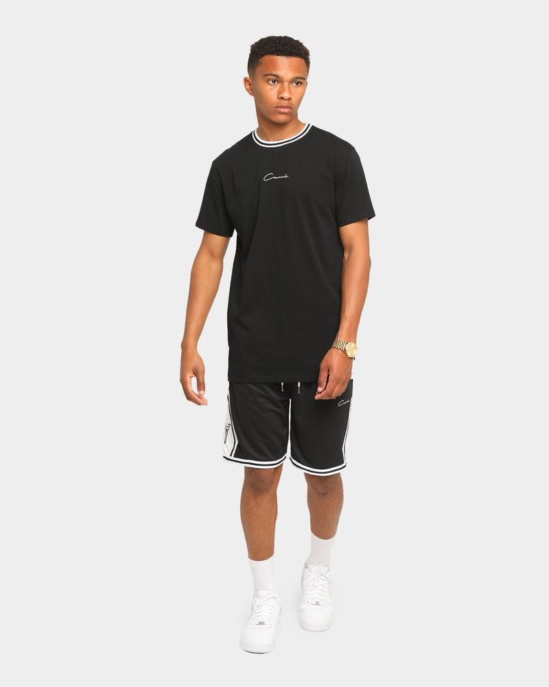Carré Champs Short Sleeve T-Shirt Black/White