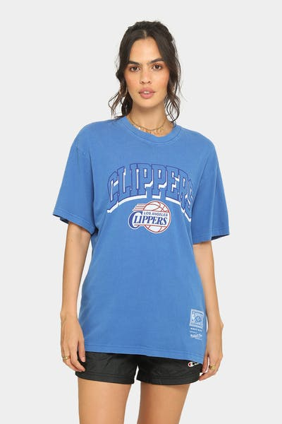 Mitchell & Ness Los Angeles Clippers Keyline Logo Vintage T-Shirt Faded Royal