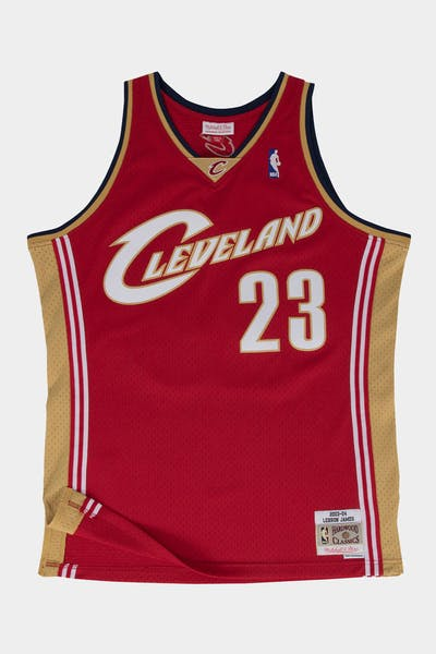 Mitchell & Ness Cleveland Cavaliers LeBron James '03-'04 #23 Swingman Jersey Red