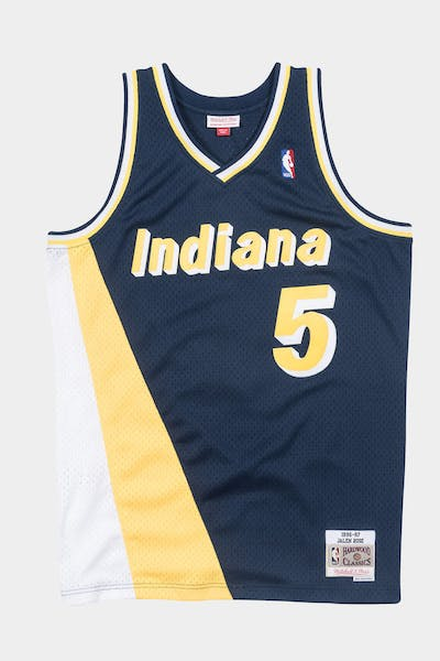 Mitchell & Ness Indiana Pacers Jalen Rose '96-'97 #5 Swingman Jersey Navy