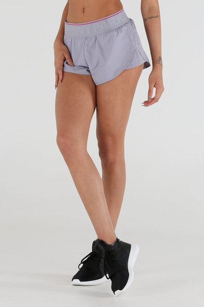 Ivy Park Perf Panel Woven Runner Shorts Grey