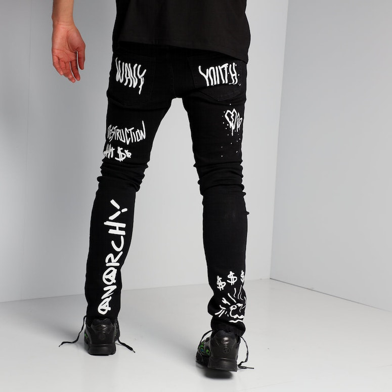 New Slaves Text Book Jeans Black