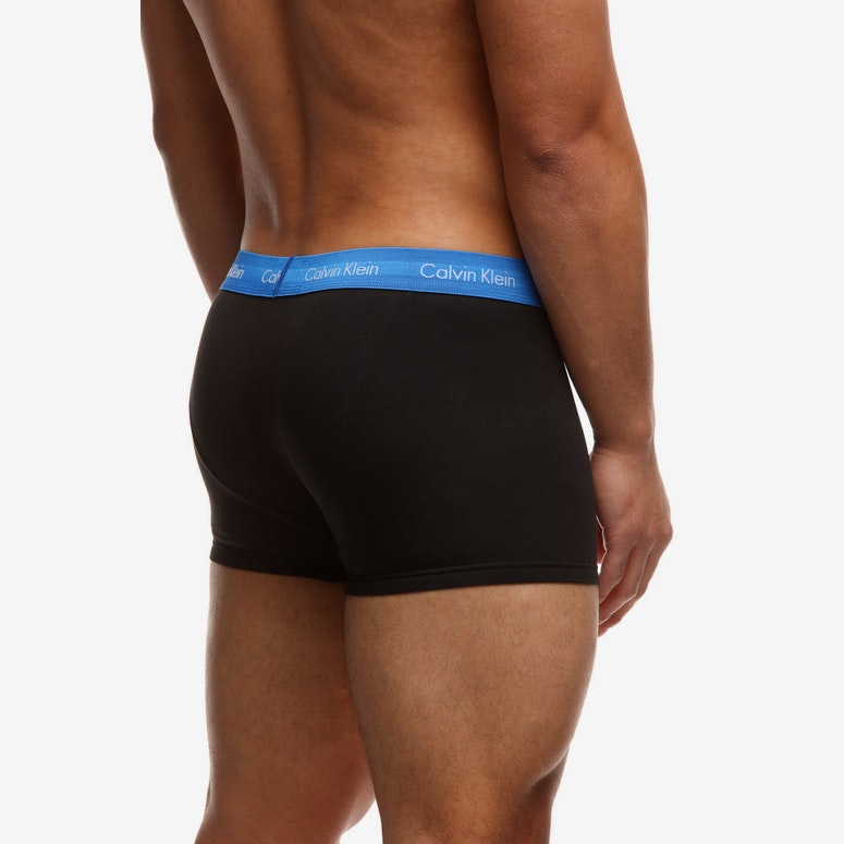 Calvin Klein Mens Low Rise Trunk 3 Pack Black/Multi-Coloured