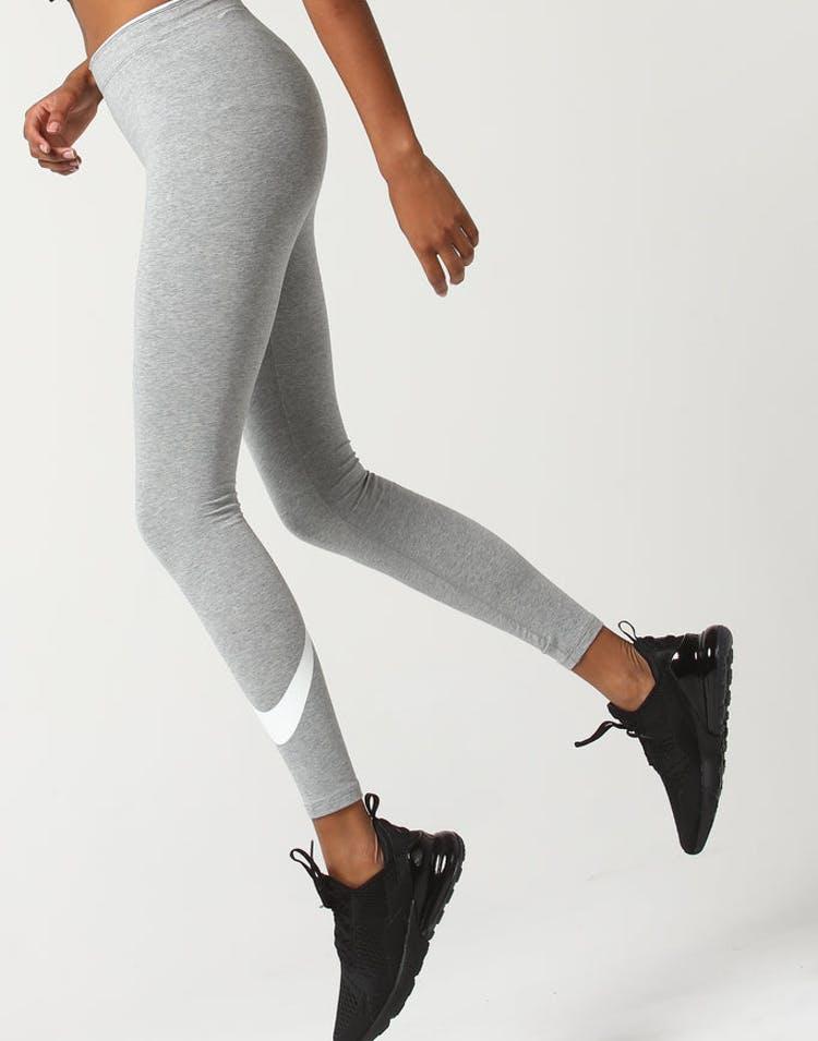 018a04b9a Nike Women's Sportswear Swoosh Leggings Dark Grey/White